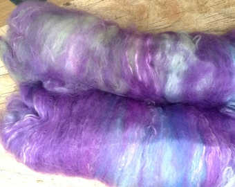 "Type Batt ""Wellnessbatt"" lavender flower ""Wellnessspinnen"" Merino, silk, lavender 120 grams"