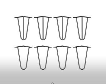 4 x hairpin legs legs leg 20 cm hair pin legs mid century table