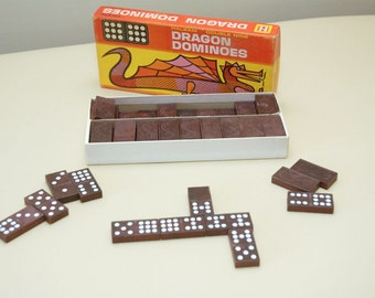 Vintage Halsam Double Nine Dragon Dominoes