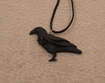Raven Necklace, Crow Necklace, Raven Charm, Raven Pendant, Bird Pendant, Crow Pendant, Crow Charm, Raven Jewelry, Crow Jewelry, Bird Jewelry