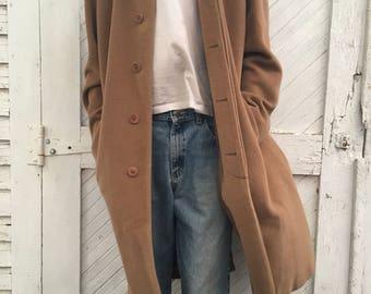 Pure Wool Long Mens Overcoat Large