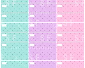Polka Dot Hourly Planner Sticker Boxes [ASSORTED] for Erin Condren Hourly