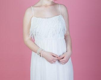 Ivory Bridesmaid Dress, Flower Girl Dress, Boho Wedding Dress, Beach Wedding Dress, Ivory Wedding Dress, Evening Dress, Boho Wedding, White