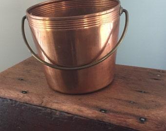 Solid Copper Bucket