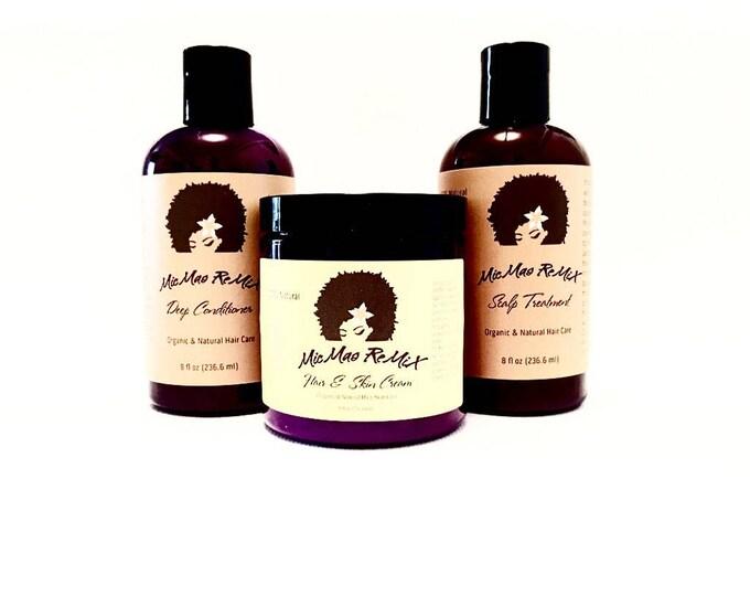 Featured listing image: LOC/LCO METHOD Liquid.Oil.Cream/Liquid.Cream.Oil Bundle Pack for maximizing moisture retention.