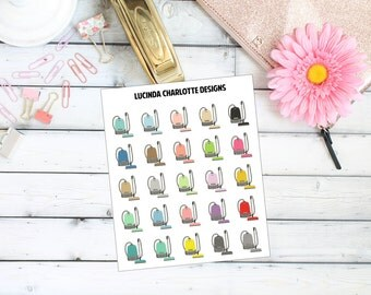 Vacuum Cleaner Cannister - Planner Stickers