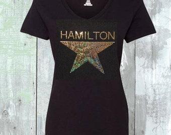 Hamilton The Musical Star Sequins Shirt