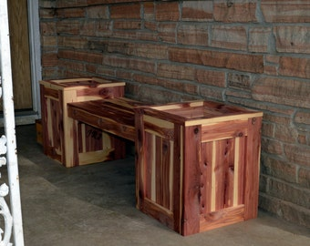 Bench Planter Flower Bench Planter Flower Box Cedar Bench Planter Wooden Bench