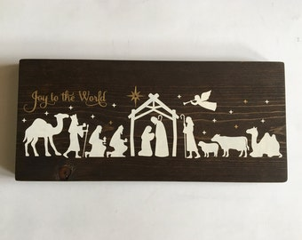 Nativity Wood Sign
