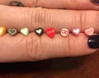 Hypoallergenic Heart and Bow plastic post earrings *Perfect for toddler/small/sensitive ears*