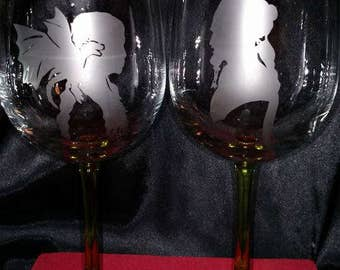 Game of Thrones - His & Hers wine glasses (Etched)