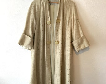 Vintage Eyelet Embroidered Coat