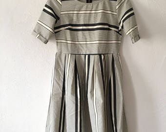Minimalist Black and White Striped Dress