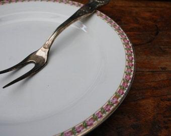 Societé Céramique Maestricht, vintage serving plate, vintage serving platter with flower decor, antique stoneware platter, Dutch.