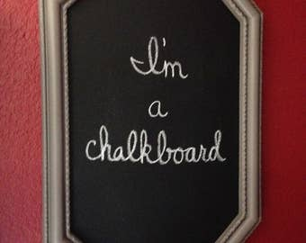 Large framed chalkboard; framed chalkboard, chalkboard sign, vintage wall decor, office wall decor, shabby chic decor
