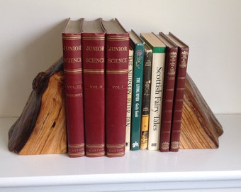 Wood bookends, elm bookends, log bookends, natural bookends, unusual bookends, wood, wooden, unique, handmade, book supports  (item 146)