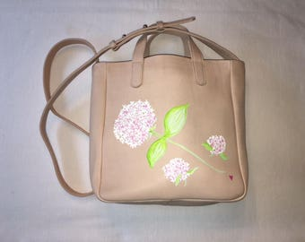 NEW** Leather Bucket Purse, Hand Painted