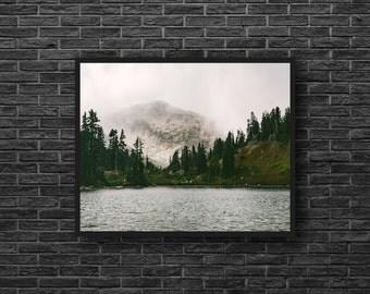 Mountain Lake Print - Nordic Landscape Photo - Lake Photo - Mountain Landscape - Wilderness Nature - Nordic Wall Decor - Nature Wall Decor
