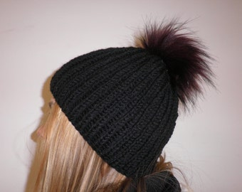 Art fur Pompom Hat
