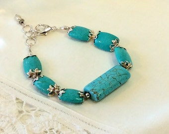 Turquoise Chicklet Bracelet