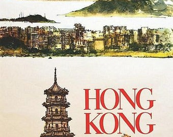 Vintage Hong Kong Tourism Poster A3 Print