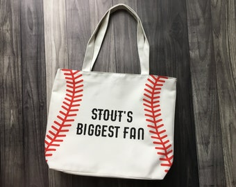 Customized Baseball Bag, Custom Baseball Tote, T-Ball Bag, Baseball Game Bag, Baseball Game Tote, Mom Baseball Bag, Mom Baseball Tote