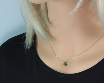 Gold jade necklace Etsy