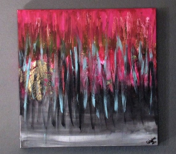 """Abstract Painting """"Pink Memories"""""""