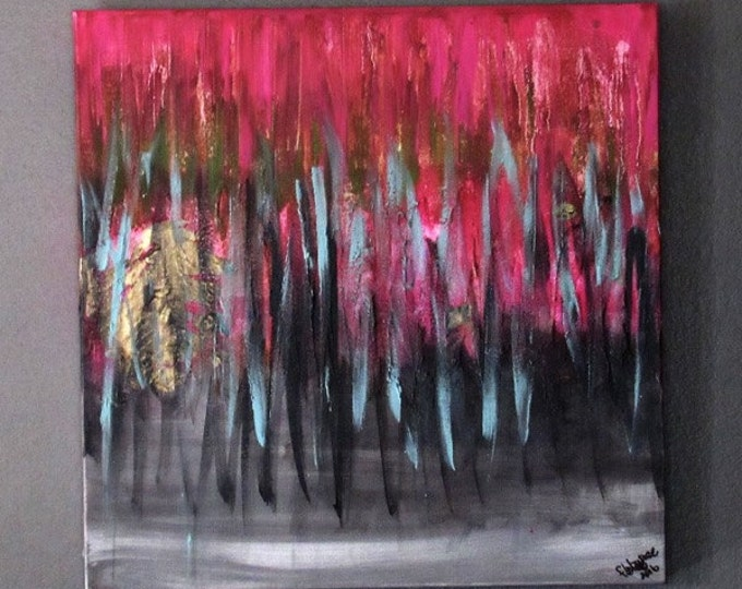 "Abstract Painting ""Pink Memories"""