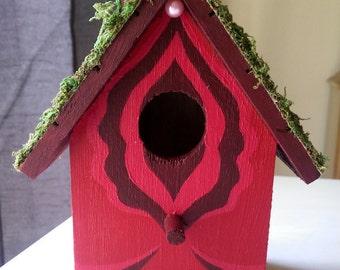 Birdbox \\ Floral Vagina Birdhouse \\ Red Rose