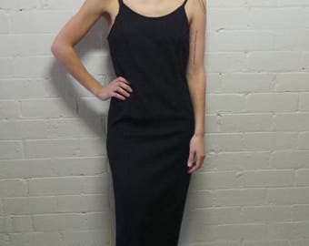 Simple Long Black Dress