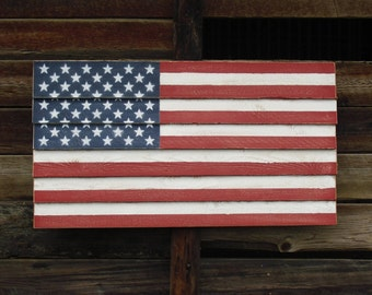 "Small Rustic American Flag - 24"" x 13"""