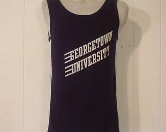T-shirts, vintage 1980s, Georgetown, University, tank top, Champion, tank, large