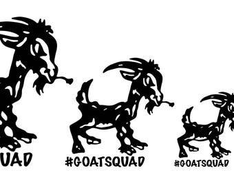 Goat Squad Logo Decals