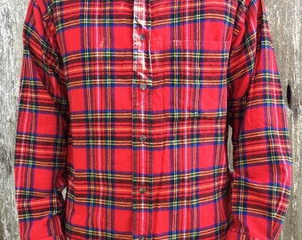Vintage Plaid Flannel Button Up