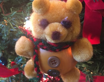 Fuzzy And Cuddly Teddy Bear Ornament
