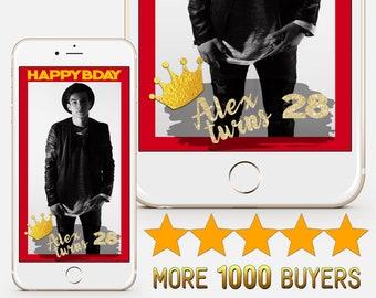 Snapchat Happy Birthday Geofilter Custom Birthday party geofilter Snapchat geofilter Custom birthday geofilter Birthday geofilter S80