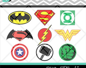 Superhero svg,Batman svg,Captain America svg,Superman svg,Justice League,Hulk svg,Flash svg,Wonder Woman svg,Thor svg,Files for Cricut