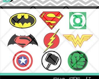 Superhero svg,Batman svg,Captain America svg,Superman svg,Justice League,Hulk svg,Flash svg,Wonder Woman svg,Thor svg,Files for Cricut