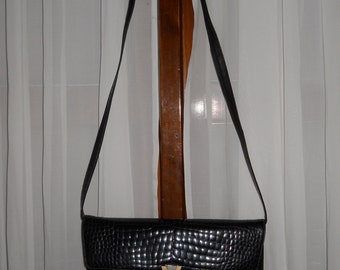 Genuine leather bag ! Vintage ! Made in Italy !