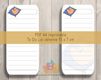 Liste de tâches numérique planner organiser/Digital Tasks list/reminder/Digital To do list/Digital fun cat list/Liste numérique tâches chat