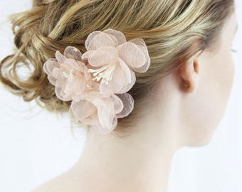 Pink hair pins, Dry Flower Hair Pin, Floral wedding headpiece, wedding accessories, bridal hair pins, wedding hair accessories