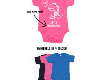 Dino Romper, Baby bodysuit, customizable romper, name bodysuit, personalized dino romper, baby shirt, dinosaur romper, personalized bodysuit
