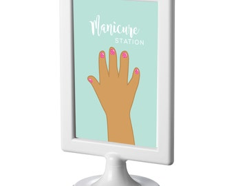 Spa Party Printable Manicure Station, INSTANT DOWNLOAD Home Girls Spa Day, Mommy/Daughter Spa Day, PDF
