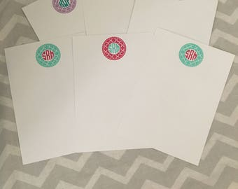 Personalized 5x7 Stationary - Monogrammed