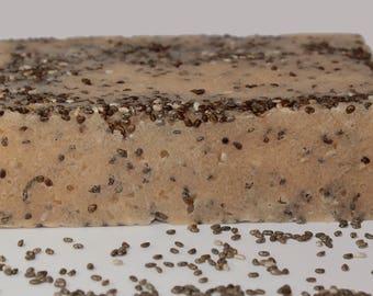 TrulyScent's Sour Power Exfoliating Soap Bar- Chia Seeds- Citrus Bar- Goat Milk Soap- Sugar Scrub Bar- Solid Sugar Scrub- Acne- Perfect Gift