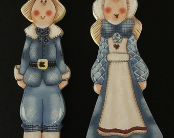 Thanksgiving, Pilgrims, Holiday Decor, Home Decor, Tole Painting, Decorative Painting