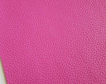 HOT PINK TEXTURED leather faux leather sheet, 8x11 faux leather,barbie pink vegan leather,pink faux leather,fake leather,faux leather fabric