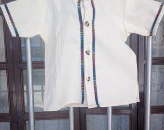Guayabera mexicana  para bebé, camisa mexicana para bebé