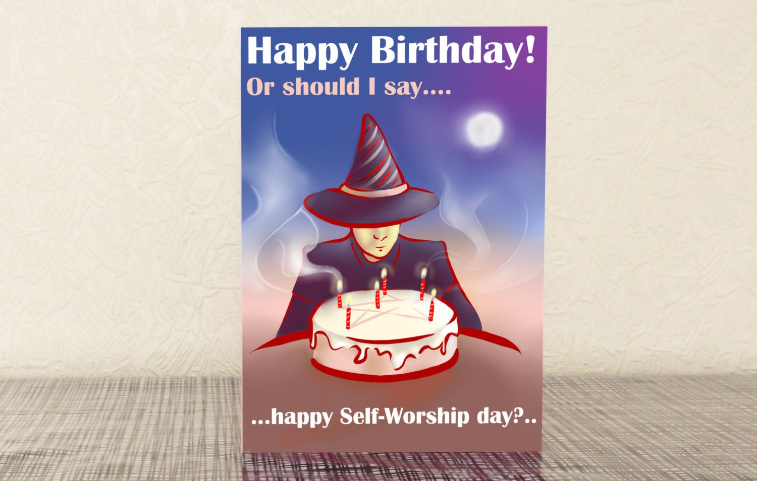 A5 birthday greeting card self worship day birthday zoom kristyandbryce Choice Image